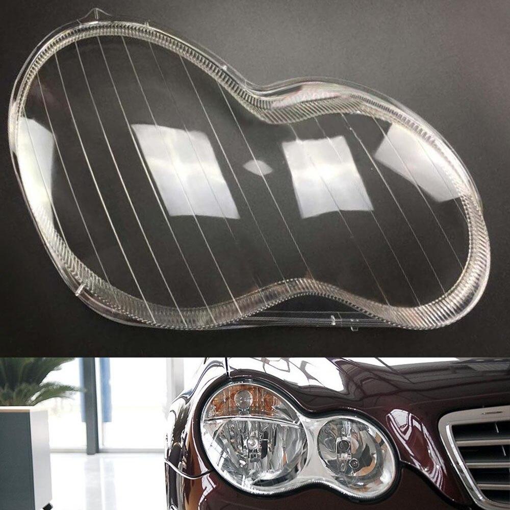 Headlamp Cover For Mercedes-Benz W203 C180 C200 C230 C260 C280 2001~ 2008 Car Headlight Headlamp Clear Lens Auto Shell Cover