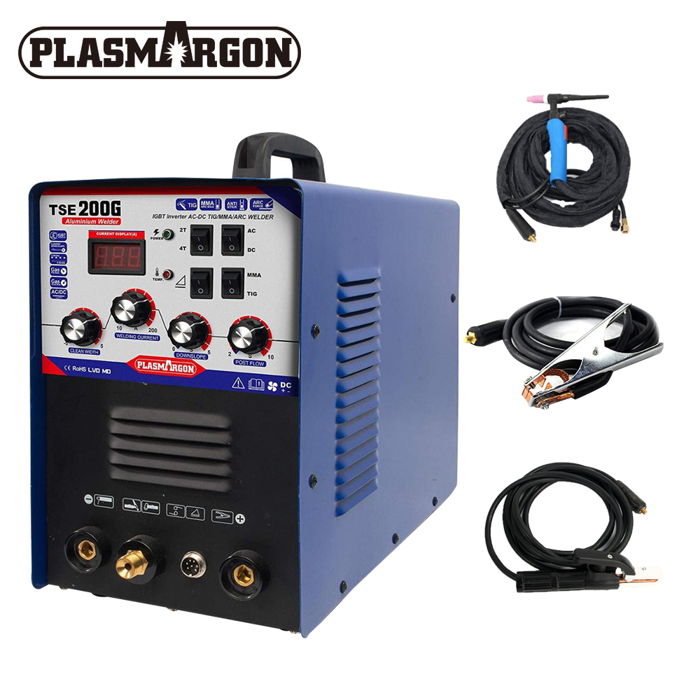 IGBT TIG/ MMA Welder TSE200G AC/ DC Square-wave Inverter 200A 4 Welding Method Machine For Aluminum, Stainless Steel, etc image