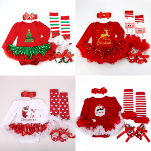 Image 1 - 2020 Christmas Baby Costumes Romper Dress Santa Claus Cosplay Party Outfit Bebes Jumpsuit Newborn Baby Girls Clothes