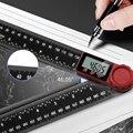 300 мм 0-360 Цифровой угломер Транспортир Гониометр квадратная линейка плотник угломер инструмент для измерения уровня
