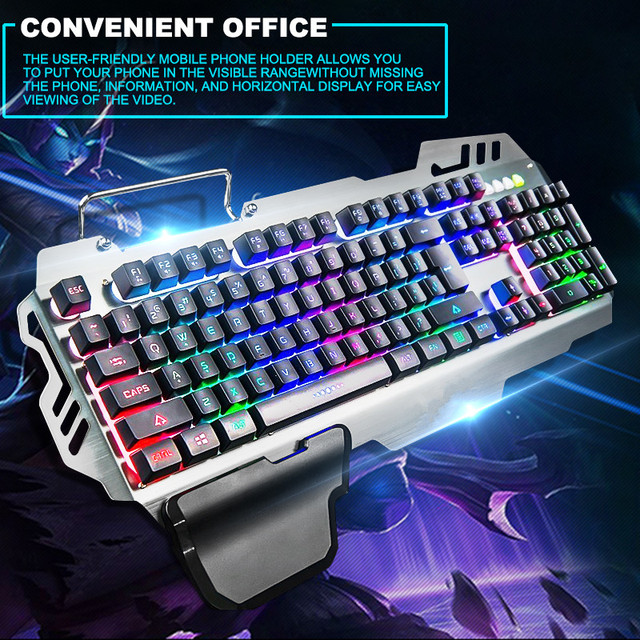 PK-900 104 Keys USB Wired Backlit Mechanical-Handfeel Backlight Gaming Keyboard for Gamer Computer PC Laptop 2