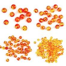 6/8/10/12 мм имитация янтаря Бисер для создания украшений, изготовление браслетов или бус своими руками круглые бусины с большим отверстием син...