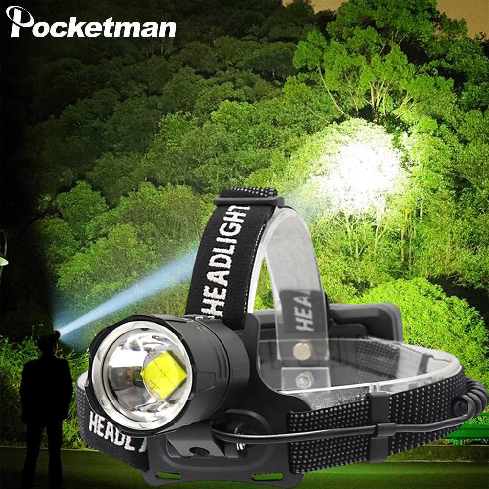 Leistungsstarke Scheinwerfer XHP70.2 LED Kopf Licht Zoom Scheinwerfer USB Aufladbare Kopf lampe mit 18650 Batterie für Camping Angeln Wandern