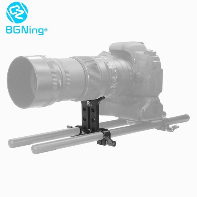 15MM Telephoto Lens Support Bracket Holder Adapter for 5D3 5D2 SLR DSLR Cameras Photo Studio Rig Rail Rod Follow Focus System