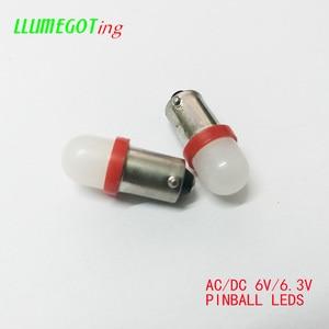 Image 3 - 50個BA9S T4W #44 #47ミルクホワイトドーム2x 5630SMDさまざまな色非極性ac dc 6 12v 6.3vバリーピンボールゲーム機led電球