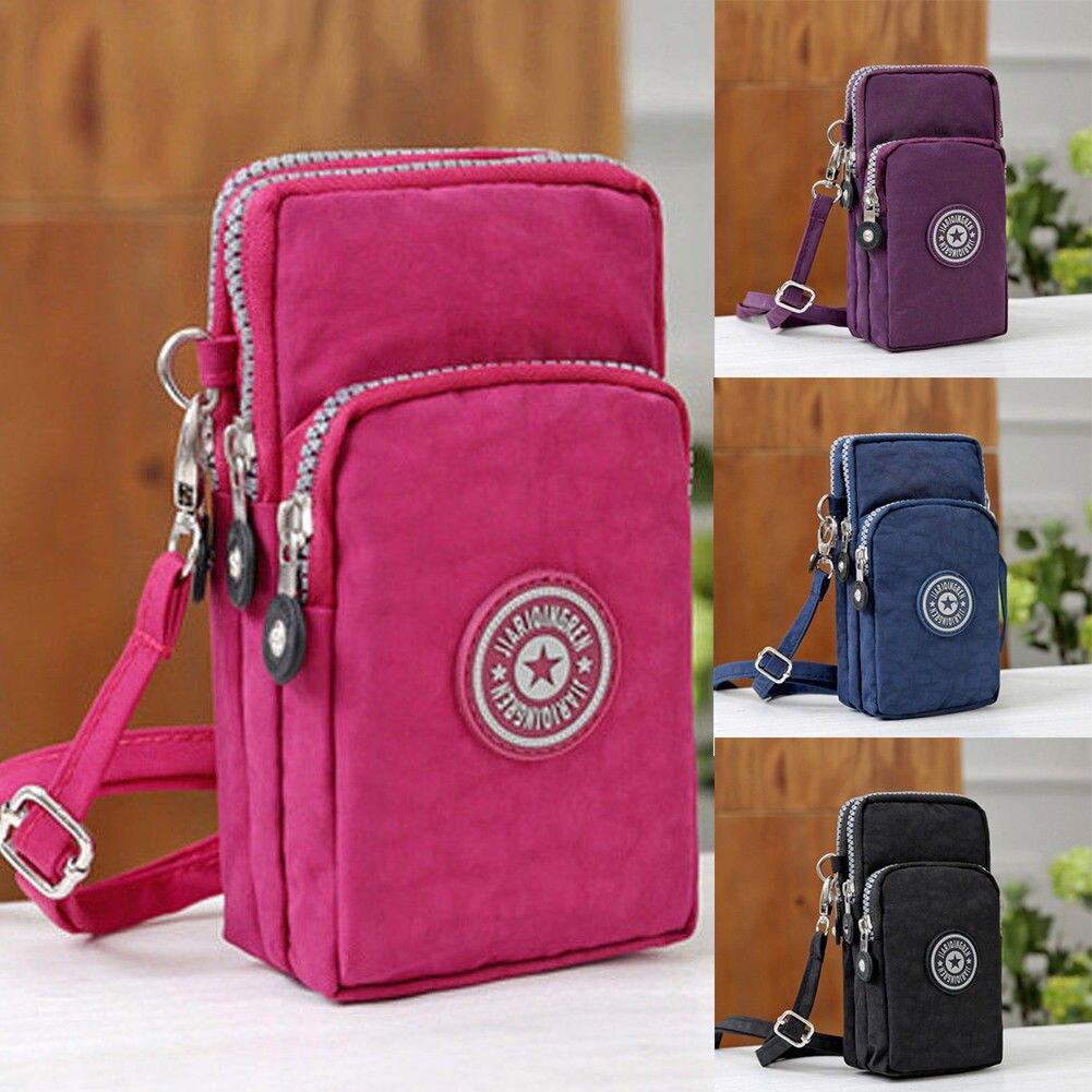 New Sports Wallet Phone Bag For Mobile Shoulder Bag Pouch Case Belt Handbag Purse Coin Wallet Retro Key Holder Small Money Bag