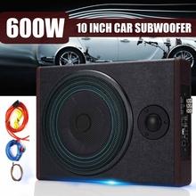 10 Cal 600W samochodów aktywny Subwoofer głośnik wzmacniacz Audio pojazdu Subwoofer Bass obudowa wzmacniacza dźwięku samochodowy wzmacniacz Audio wzmacniacz Audio tanie tanio Audew Car Speaker Zamknięta systemy subwoofer 90dB Wooden Subwoofery 12 v Enclosed Subwoofer Systems 5 18kg Black 10 inch