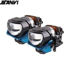 SANVI 2pc 2.5 cal H88 Bi obiektyw LED projektora reflektor 100W 6000k wysokiej mocy Auto reflektor LED światła samochodowe akcesoria modernizacja DIY