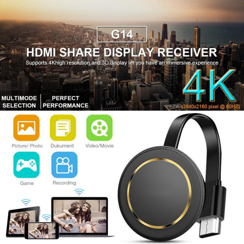 TV Stick 2.4G/5G Wireless Screen Projector 4K Wireless WiFi Display Dongle Receiver For Airplay HDMI Google Cast Youtube Google