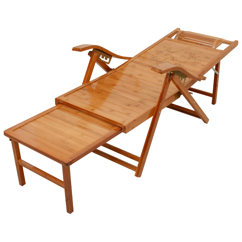 Bamboo Lying Chair Folding Afternoon Rest Bed Home Chair Summer Bamboo Chair Old Chair Couch Back Chair Beach Chai