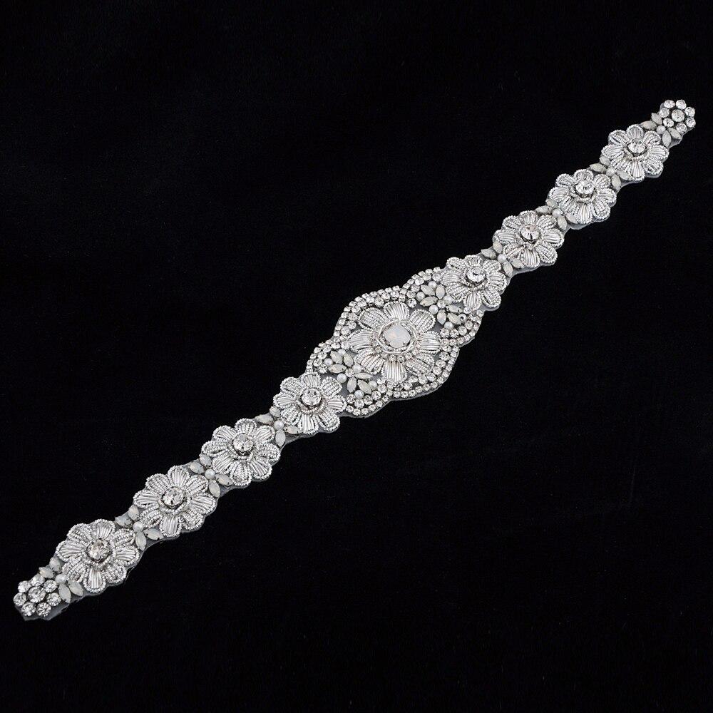 Купить с кэшбэком TRiXY S371 Luxury Royal Medal Craft Bridal Sash Wedding Belts Crystal Beading Belt Shinny Bridal Belt Sashes Wedding Accessories