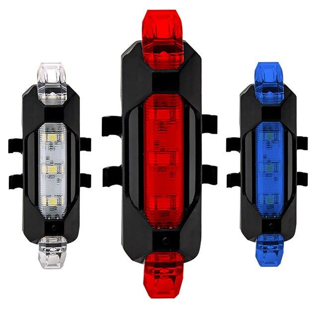 Lanterna para a luz da bicicleta usb recarregável luz da cauda lâmpada mountain bike lanterna traseira ciclismo aviso de segurança led 1
