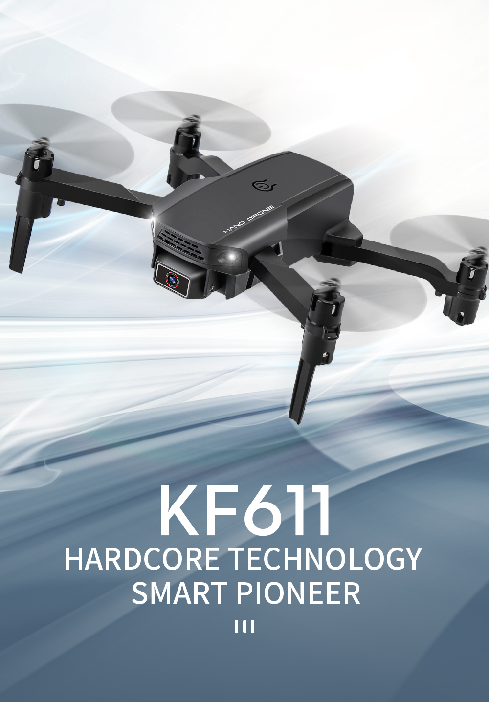2020 NEW KF611 Drone Profession 4k HD Wide Angle Camera 1080P WiFi Fpv Drones Camera Quadcopter Keep Height Dron Toy