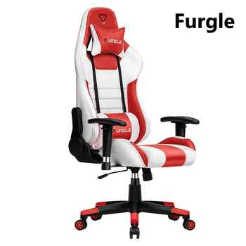 Furgle Computer Chair Play for WCG Gaming Chair Office Chair Leather Gaming Chair Engineering Chair Red&White for home/Cafe/Game - DISCOUNT ITEM  40% OFF All Category