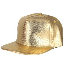 Golden Snakeskin Pu Leather Hip Hop Flat Cap K Pop Basketball Caps Men Women Casquettes Baseball Hats Kids Summer Visor Sombrer