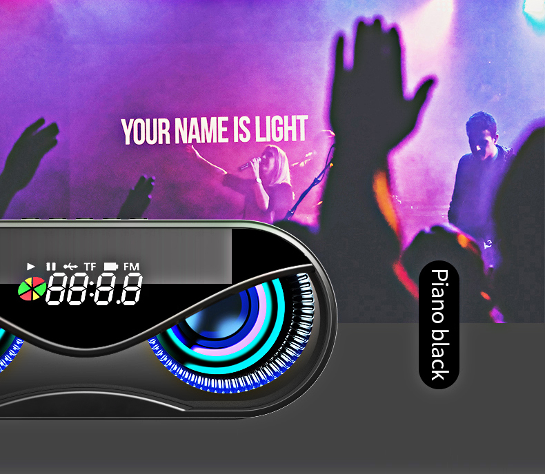 FM Radio Alarm Clock Bluetooth Speaker with LED Flash He4e34d9fc4b246619da45b9de4f1e6e4P speaker