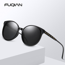 FUQIAN 2019 Vintage Cat Eye Women Sun Glasses Polarized Brand Design Stars Decoration Sunglasses Brown Shades Eyewear UV400