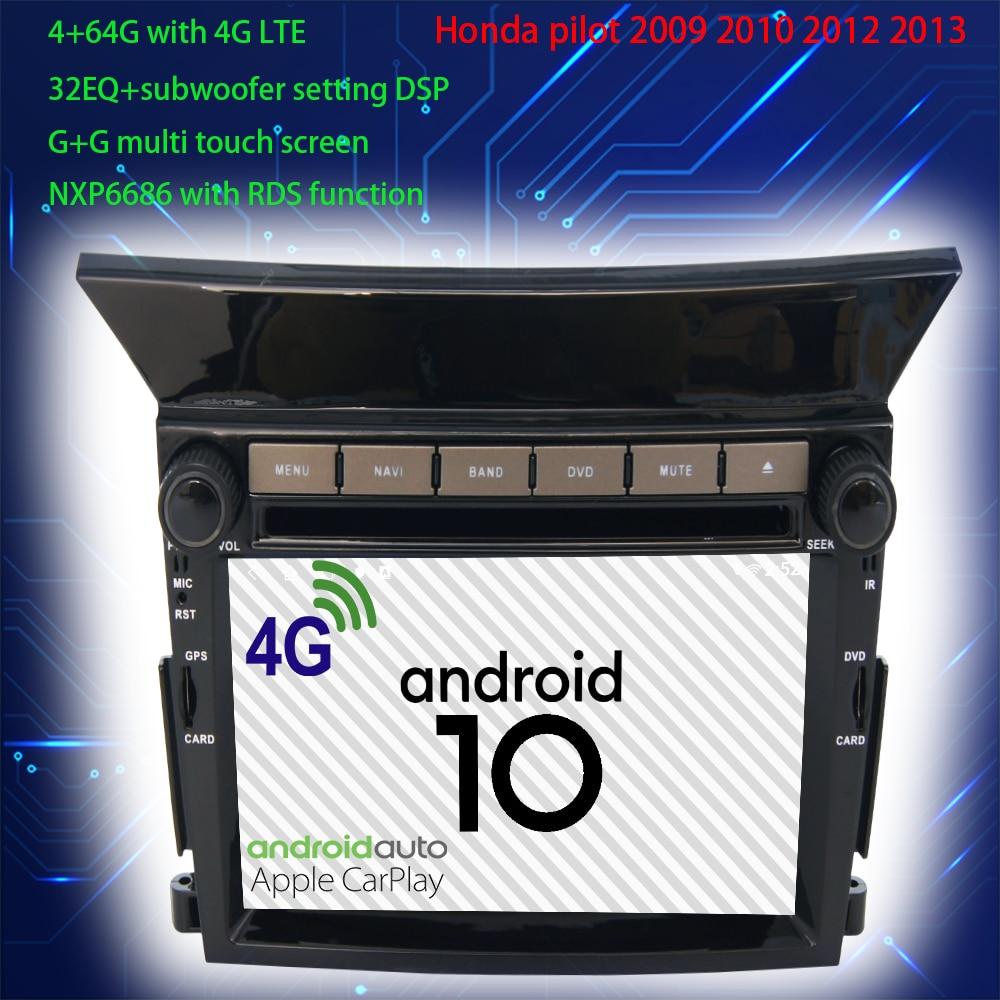2-din car multimedia DVD-player gps navigation -Honda pilot 2 2009 2010 2011 2012 2013 android auto-radio audio accessories