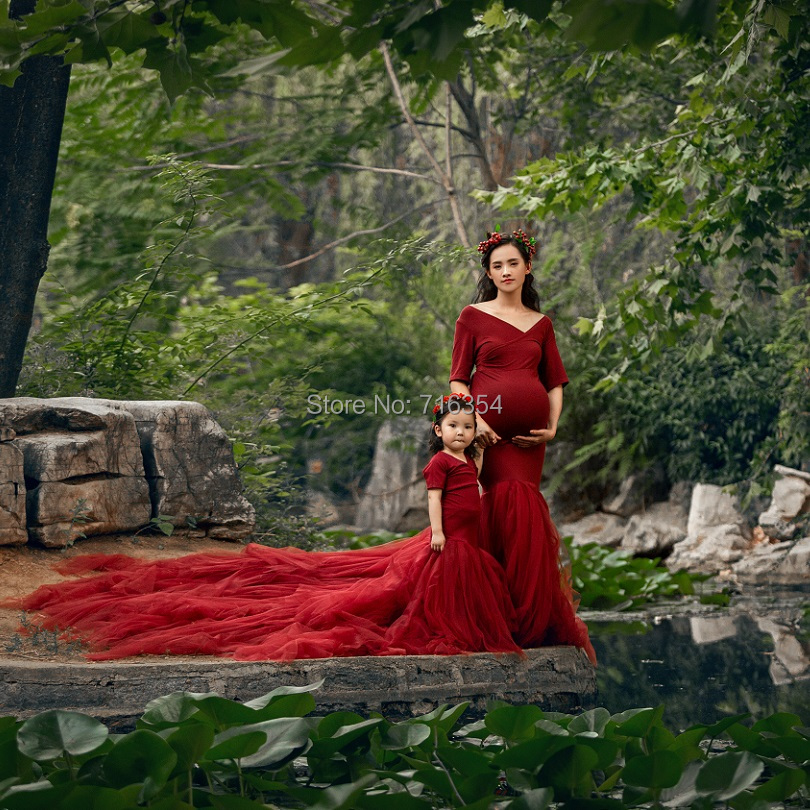 New Fashion Maternity Maxi Dresses For Photo Shoot Pregnancy Clothes Maternity MAMA Gown Long Dress For Pregnant Photography
