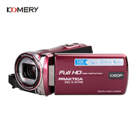 KOMERY New Arrivals Full HD 1080P 10X Optical Image Stabilization Video Camera Telescopic Lens Slow Motion/Fast Forward/Playback