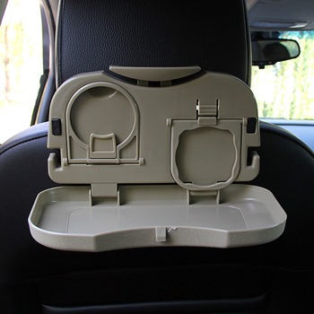Car food tray folding dining table drink holder car pallet back seat water car cup holder image