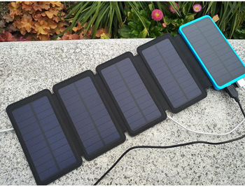 Solar power bank Folding Solar panel charger outdoor solar panel camping hiking solar charger battery 5