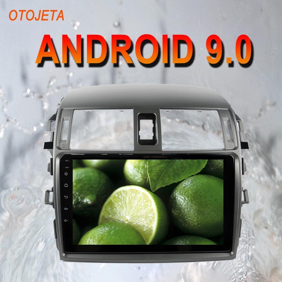 OTOJETA Android 9.0 2.5D Screen Car Radio Player Head Unit For <font><b>Toyota</b></font> <font><b>Corolla</b></font> 2010 <font><b>2011</b></font> <font><b>Multimedia</b></font> auto Stereo GPS tape recorder image