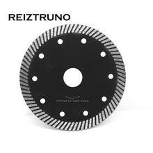 REIZTRUNO 125mm Premium Diamond Saw Blade 5-Inch Turbo For Grinder - Granite Stone and Marble Cutting 10MM segment