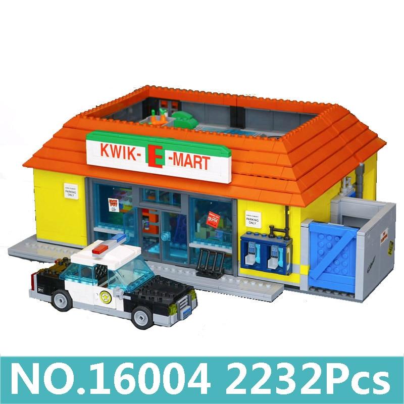 Oyuncaklar ve Hobi Ürünleri'ten Bloklar'de Lepinblocks Kral Tuğla 16005 16004 Kwik e mart Simpsons House Yapı Taşları Set 71006 71016 Film Mimari Çocuklar oyuncaklar Hediye'da  Grup 1