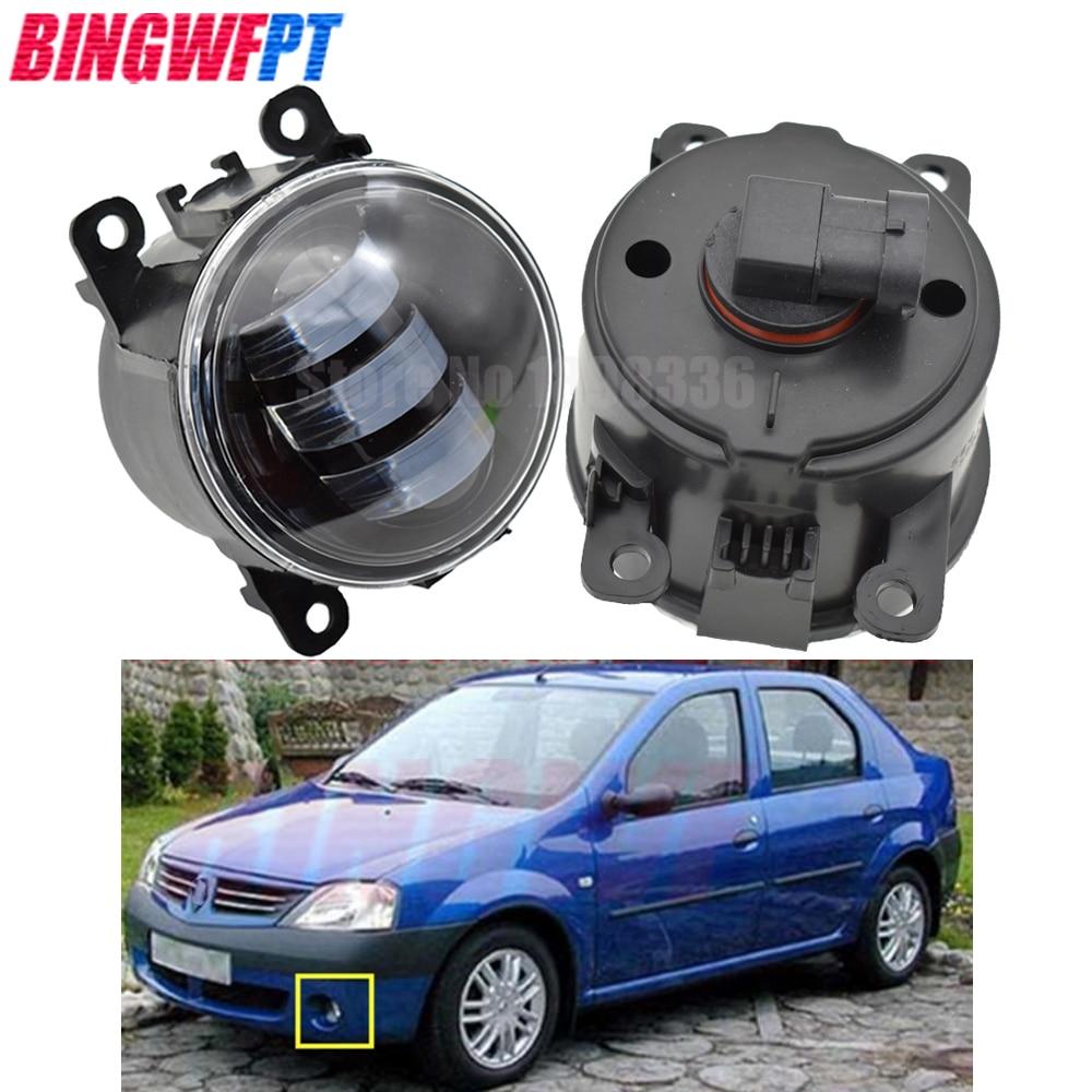 2pcs Super Bright LED Fog Light For Renault Megane 2 Saloon LM 2003~2015 For Renault Logan Saloon LS 2004~2015 Halogen Lamps
