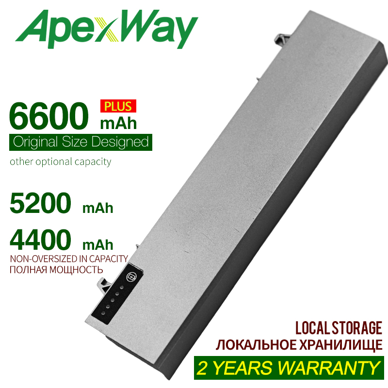 ApexWay 11.1v Battery for Dell Latitude 312-0215 312-0748 312-0749 E6400 M2400 E6410 E6510 E6500 M4400 M4500 M6400 M6500 1M215 image