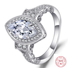 Oval 925 Sliver Diamond Ring 2 Carat Luxury Anillos Bizuteria Gemstone Peridot Topaz Jewelry Fashion S925 for Women