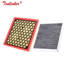 Tonlinker Brand 2 Pcs Cabin Filter Air Filter For Chevrolet Malibu Buick Lacrosse Regal Opel insignia Car accessories+Box