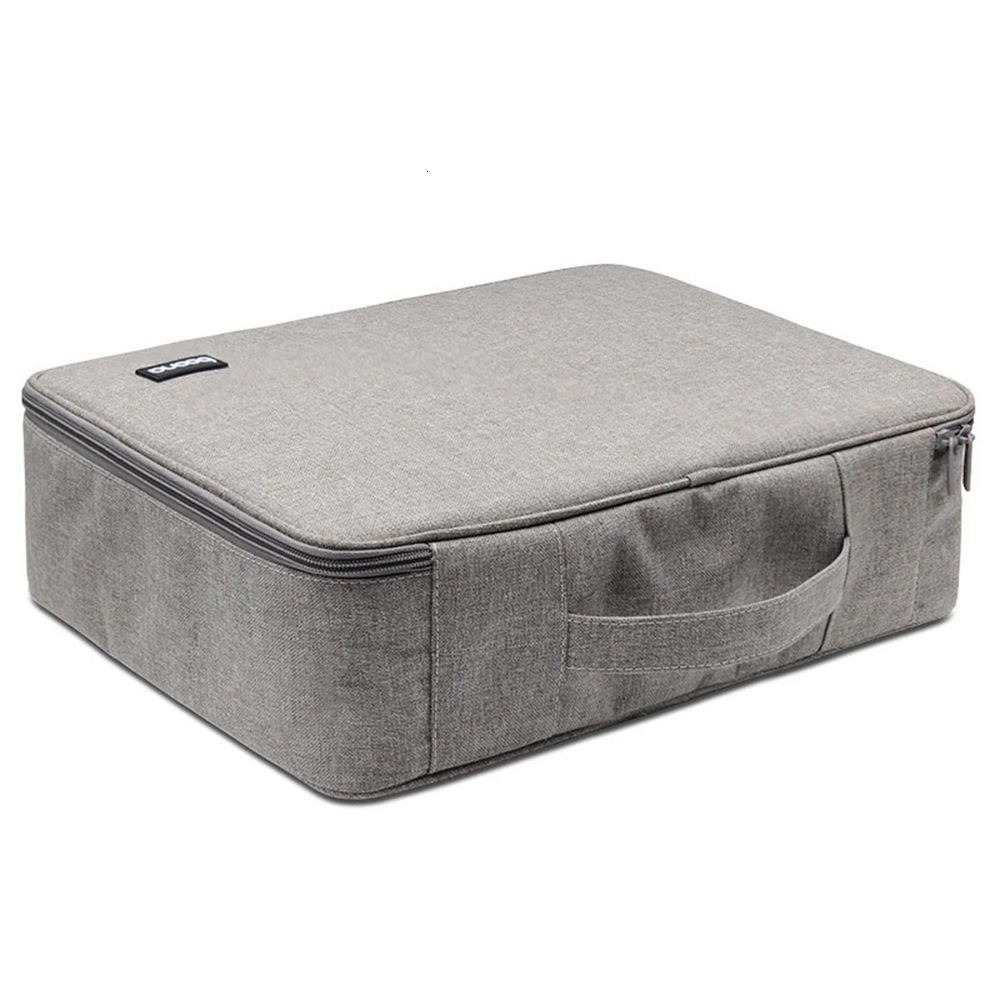 Large Capacity Single-layer Box Type Document Storage Handbag Men And Women Waterproof Travel Briefcase Business Notebook Bag