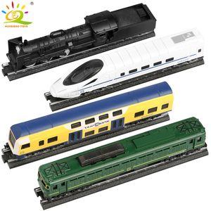 Image 2 - Huiqibao Speelgoed 4 Stks/set Simulatie Metalen Stoom Cargo Diecasts Trein High Speed Rail Legering Railway Inertiële Auto Speelgoed Voor Kinderen