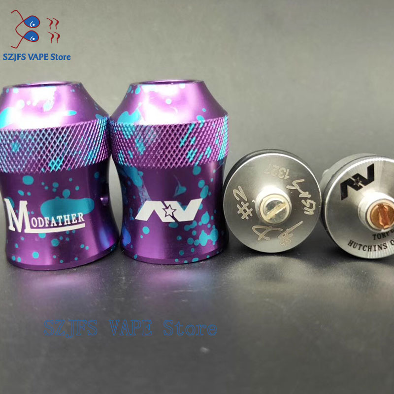 RDA 24mm Tank Atomizer Comp Lyfe 2 Post Battle Deck And Avid Lyfe ModFather Cap Larger Cloud Vape Tank Vs 528 GOON  GEN 25 RDA