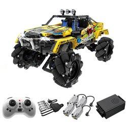 City 1030PCS Remote Control Drift Off-Road Vehicle Building Blocks RC Car Bricks Mecanum Wheels Children Toys Kids Gifts