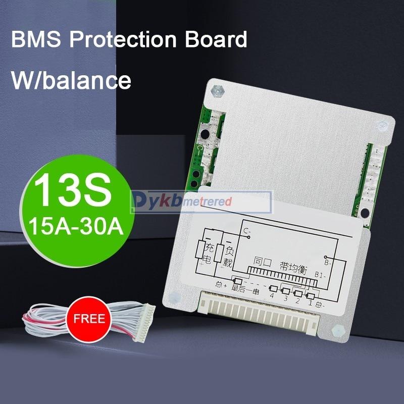 13S 48V 30A 25A 20A 15A Li-ion lithium battery protection board BMS W/ balance High Power 18650 Liion 7S 4S 12V 24V 10S 36V