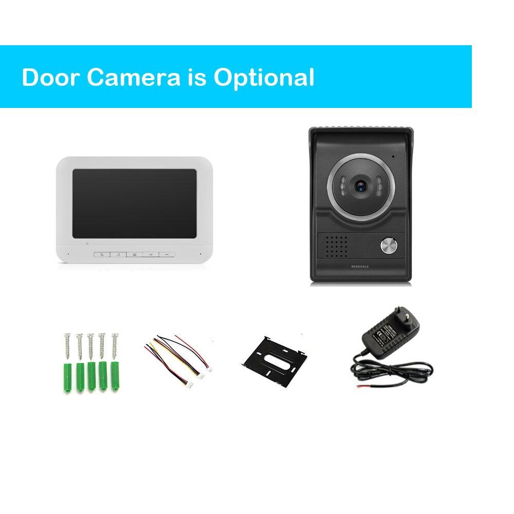 Thuis Bedraad Video Deurtelefoon Deurbel Intercom Systeem Met 7 Inch Lcd Monitor & Regendicht Nachtzicht Camera - 5