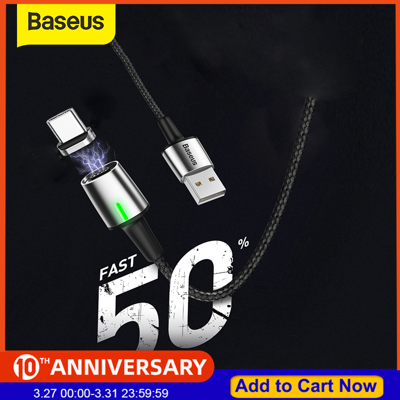 Baseus Magnetic Cable Micro USB Type C Cable for iPhone Xiaomi Fast Charging Magnet Charger USB C for Huawei P20|Mobile Phone Cables| |  - AliExpress