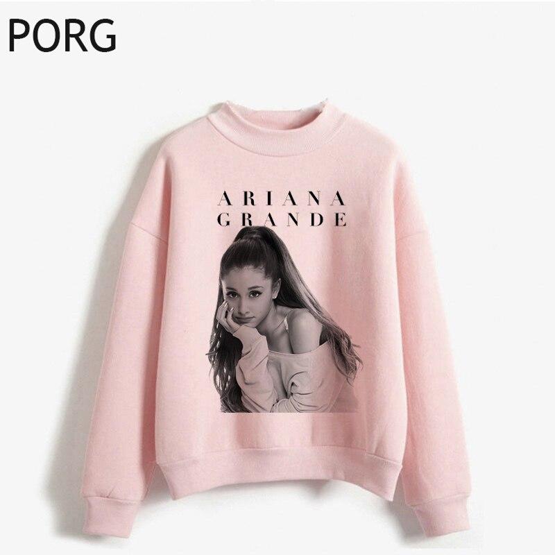 Women Pullovers Ariana Grande Hoodies Women Harajuku Sweatshirt Printed Casual Ullzang Vintage Aesthetic Sweatshirt Hoodie 2019