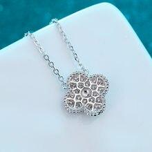 Inbeaut 925 argent excellente coupe 0.54 ct D couleur passer diamant Test Moissanite pendentif collier nouveauté chaîne adolescente cadeau