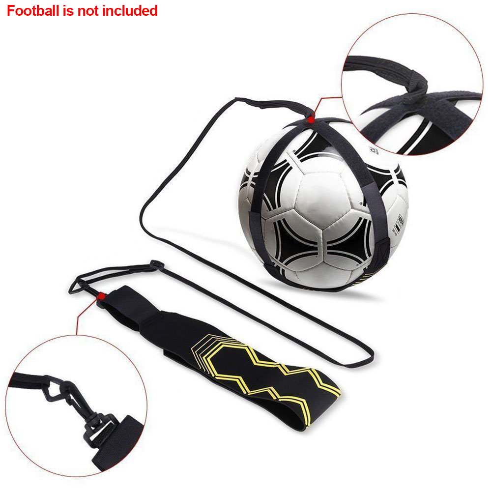 Adjustable Tool Control Skills Football Strap Practice Training Aid Hand-free Returner Kick Ball Sports Supplies Soccer Trainer
