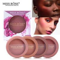 Miss Rose Brand Matte Blush Palette Peach Cheek Shimmer Bronzer Singel Blusher on Contour Cosmetics 12 Colors Face Makeup Powder