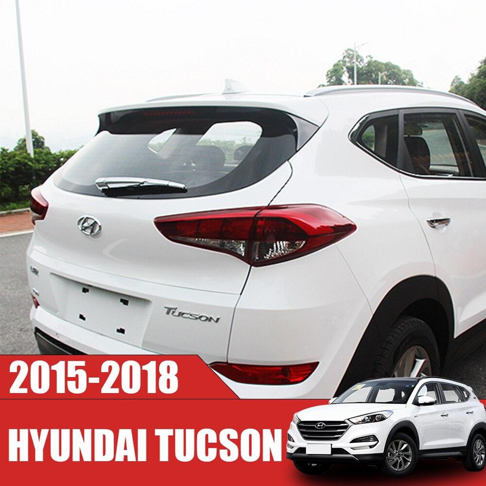 SUNFADA High Quality ABS Chrome Rear Window Wiper Trim Car Covers For Hyundai TUCSON 2015-2018 Accessories Car Styling