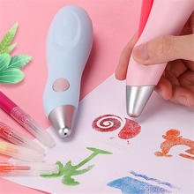 12 Colors Electric Airbrush Watercolor Pen Set USB Charging Electric Spray Pen Painting Drawing Set Student School Stationery