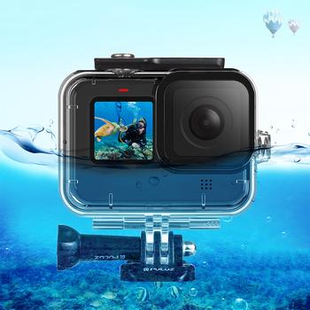 PULUZ 45m podwodny futerał dla nurków wodoodporna kamera obudowa etui ochronne dla Gopro Hero9 czarne akcesoria do kamer sportowych tanie i dobre opinie sheingka Camera diving shell CN (pochodzenie)