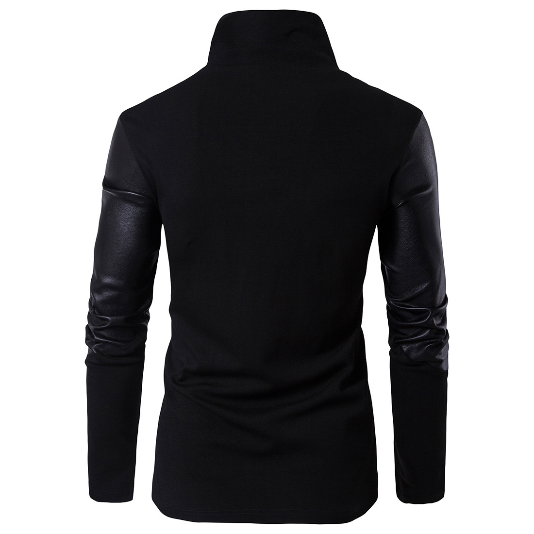 2020 MEN's Clothing Spring Clothing New Style Stand Collar Slim Fit Sweater Fight Skin Knit Hoodie Cotton 1