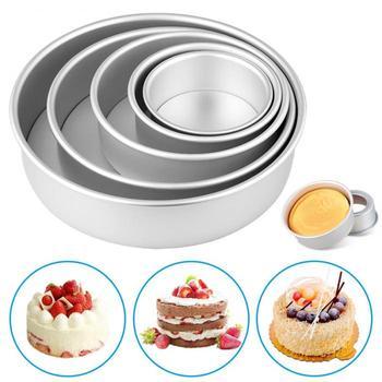 Nuevo 2/4/6/8/10 pulgadas pastel Molder redondos de aleación de aluminio de DIY pasteles pastelería Baking Tin Pan cocina herramienta XSD88