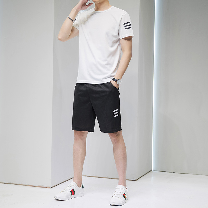 2020 New Summer Men's T-shirts And Shorts Two-Piece Suit Mens Short Sleeve 110882